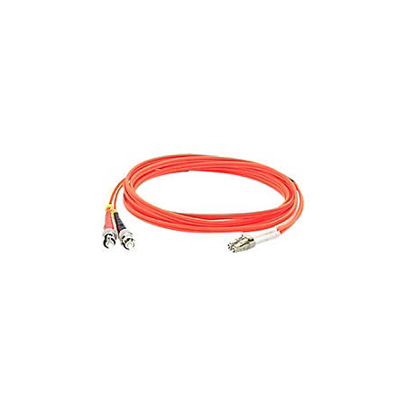 AddOn 2m LC (Male) to ST (Male) Orange OM1 Duplex Fiber OFNR (Riser-Rated) Patch Cable