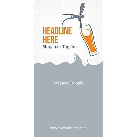 Custom Vertical Display Banner, Beer Tap Glass
