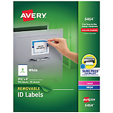 Avery Removable Full Sheet Labels 6465