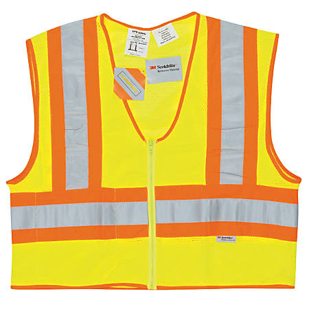 Luminator Class II Flame Resistant Vests, 2X-Large, Fluorescent Lime