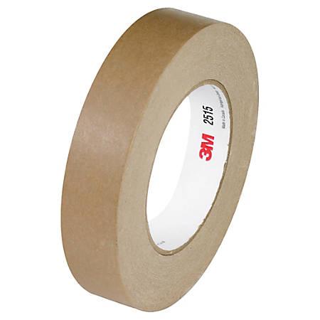"3M™ 2515 Flatback Tape, 3"" Core, 1"" x 60 Yd., Tan, Case Of 12"