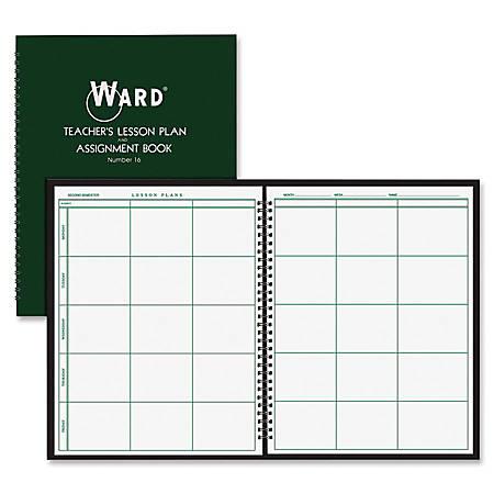 ward teachers 6 period lesson plan book weekly 9 month 8 12 x 11