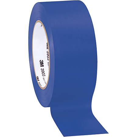 """3M™ 3903 Tartan™ Duct Tape, 3"""" Core, 2"""" x 50 Yd., Blue, Case Of 3"""
