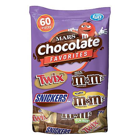 Mars Chocolate Favorites, 33.9 Oz, Bag Of 60
