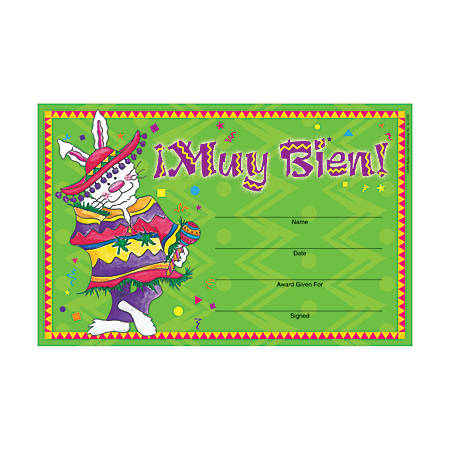 "Barker Creek Blank Award Certificates, Muy Bien, 8 1/2"" x 5 1/2"", Pack Of 30"