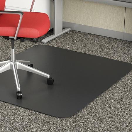 deflect o chair mat for medium pile carpet 36 w x 48 d black by