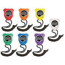 Champion Sports Stopwatches Assorted Colors Pack