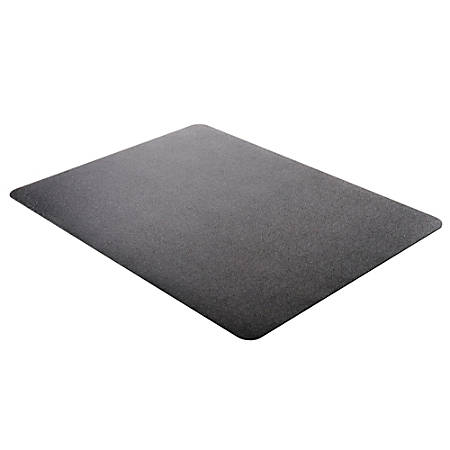 "Deflect-O® Chair Mat For Low-Pile Carpets, For Commercial-Grade Carpeting, 45""W x 53""D, Black"