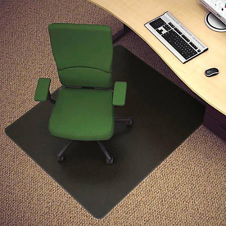 "Deflect-O® Black Vinyl Chair Mat For Hard Floors, 46""W x 60""D"