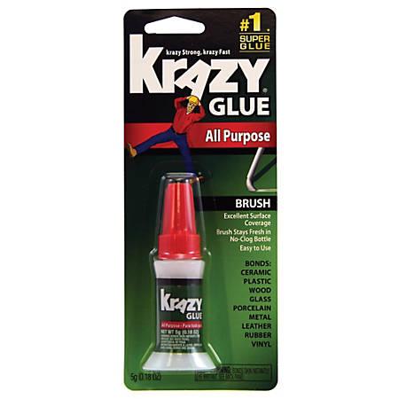 Krazy® Glue, All-Purpose Brush-On Formula, .18 Oz., Clear