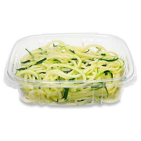 "StalkMarket Compostable PLA Deli Containers, 15"" x 14"", 24 Oz, Clear, Pack Of 200 Boxes"