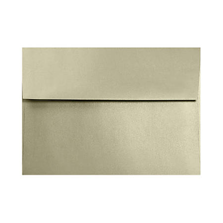 """LUX Invitation Envelopes With Moisture Closure, A1, 3 5/8"""" x 5 1/8"""", Silversand, Pack Of 50"""