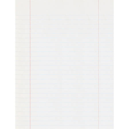 """Pacon® Composition Paper, Unpunched, 3/8"""" Rule, 8"""" x 10 1/2"""", Red Margin, 500 Sheets"""