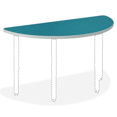 Hon Build Half Round Table Top 1 3 16 H X 60 W 30 D Blue Agave Item 366827
