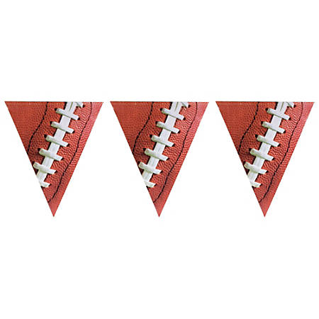 Amscan Plastic Football Pennant Banners, 12', Pack Of 4 Banners