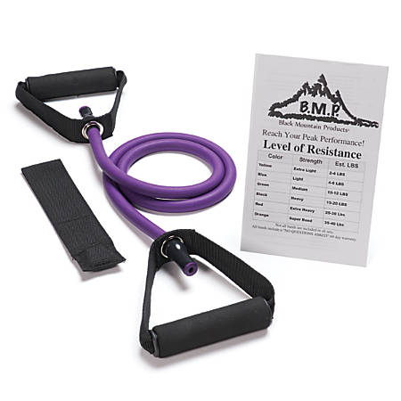 Black Mountain Products Single Resistance Band, 45-50 Lb, Purple