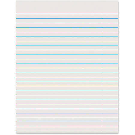 """Pacon® Ruled Newsprint Practice Paper, 8 1/2"""" x 11"""", 3/8"""" Ruling, Pack Of 500 Sheets"""