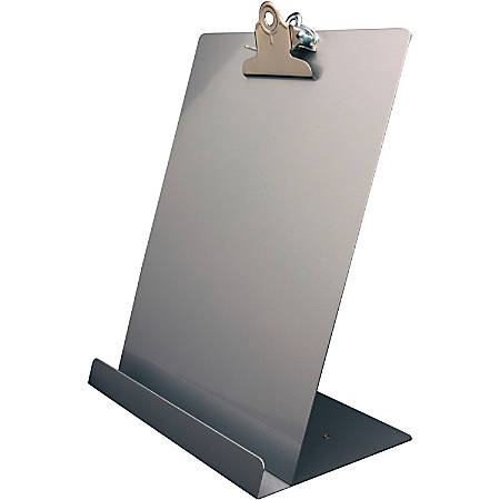 "Saunders Document/Tablet Holder Stand - 12.3"" x 9.5"" x 5"" - Aluminum - 1 Each - Silver"
