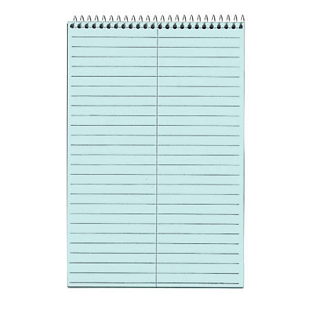"""TOPS™ Prism+™ Color Steno Books, 6"""" x 9"""", 30% Recycled, Gregg Ruled, 80 Sheets, Blue, Pack Of 4"""