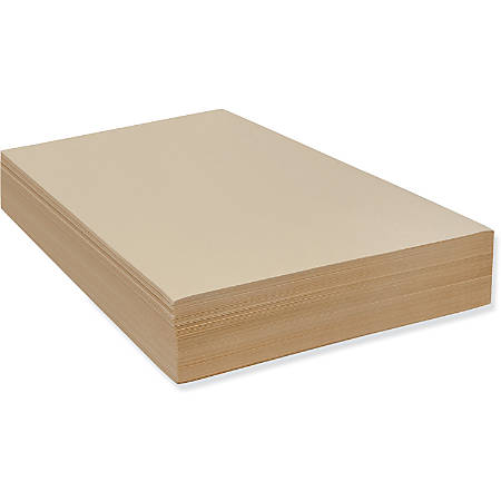 "Pacon Drawing Paper Sheets - 500 Sheets - Plain - 18"" x 24"" - Manila Paper - Heavyweight - 500 / Ream"