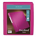 "Office Depot® Brand Everbind™ D-Ring View Binder, 1 1/2"" Rings, Pink"