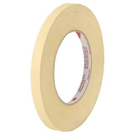 """Scotch® High-Temperature Masking Tape, 3"""" Core, 1/2"""" x 60 Yd., Tan, Case Of 12"""