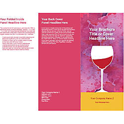 Customizable Trifold Brochure Wine Glass