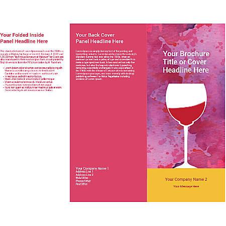 Customizable Trifold Brochure, Wine Glass