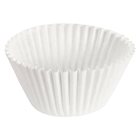 "Hoffmaster Fluted Baking Cups, 6"", White, Case Of 10,000 Cups"