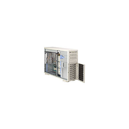 Supermicro A+ Server 4021M-T2R+ Barebone System - nVIDIA MCP55 Pro - Socket F (1207) - Opteron (Dual-core), Opteron (Quad-core) - 1000MHz Bus Speed - 64GB Memory Support - Gigabit Ethernet - 4U Tower