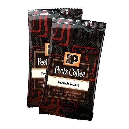 Peet's Coffee And Tea Portion Packs, French Roast Coffee, 2.5 Oz, Pack Of 18