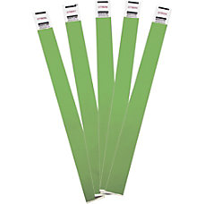 Advantus Tyvek Wristbands 100 Pack Green