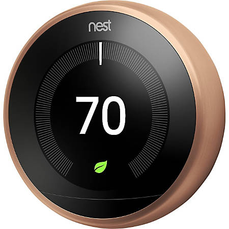 Google™ Nest Learning Thermostat (3rd Generation), Copper
