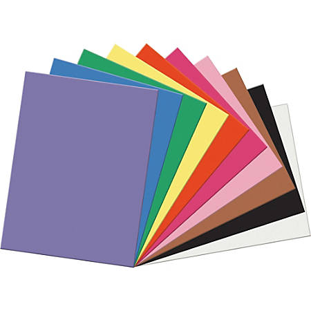"""Pacon® SunWorks® Multipurpose Construction Paper, 24"""" x 18"""", Assorted Colors, Pack Of 50 Sheets"""