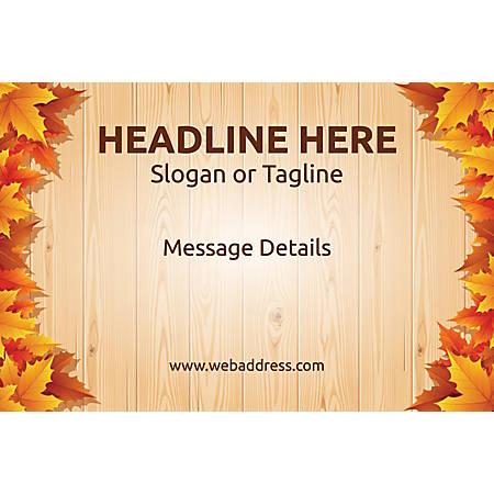 Custom Poster, Autumn Leaves, Horizontal