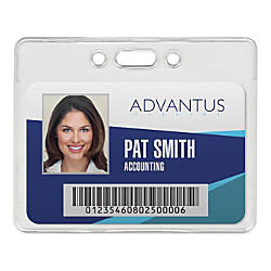 Advantus Proximity Card Horizontal Badge Holders