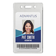 Advantus Proximity Card Vertical Badge Holders