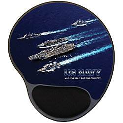 "Integrity Ergonomic Mouse Pad, 8.5"" x 10"", Navy Carrier Group"
