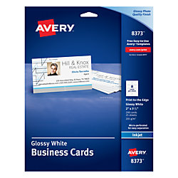 Avery print to the edge inkjet business cards with photo quality avery print to the edge inkjet business cards with photo quality reheart Image collections