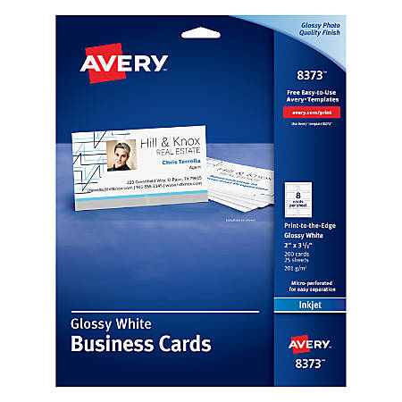 Avery print to the edge inkjet business cards with photo quality avery print to the edge inkjet reheart Gallery
