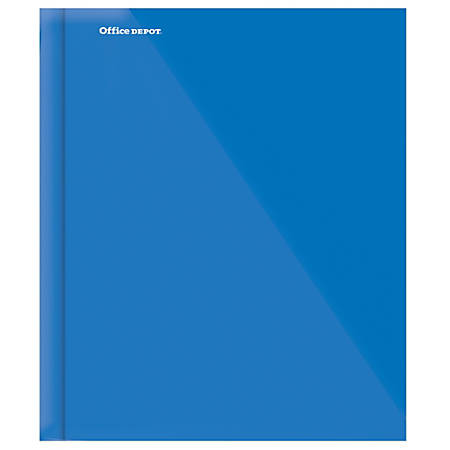 "Office Depot® Brand Laminated 3-Prong Paper Folder, 9 1/4"" x 11 1/2"", Blue"