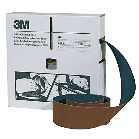 "3M™ 314D Utility Cloth Roll, P320 Grit, 2"" x 50 Yards"