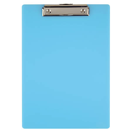 "Office Depot® Brand Acrylic Clipboard, 12 11/16"" x 9"", Blue"