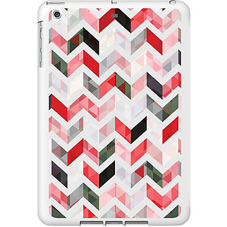 OTM iPad Air White Glossy Case Ziggy Collection, Red - For Apple iPad Air Tablet - Ziggy - White, Red - Glossy