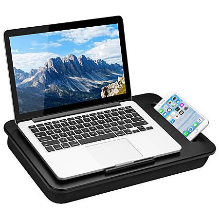 "LapGear Sidekick Lap Desk, 11""H x 17""W x 2.2""D, Black"