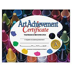 Flipside Art Achievement Certificate 11 x