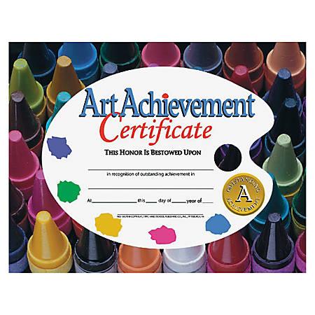 "Flipside Art Achievement Certificate - 11"" x 8.50"" - Laser Compatible - Assorted30 / Pack"
