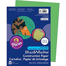 Pacon SunWorks Multipurpose Construction Paper 12