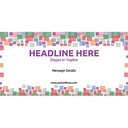 Custom Horizontal Banner, Square Mosaic