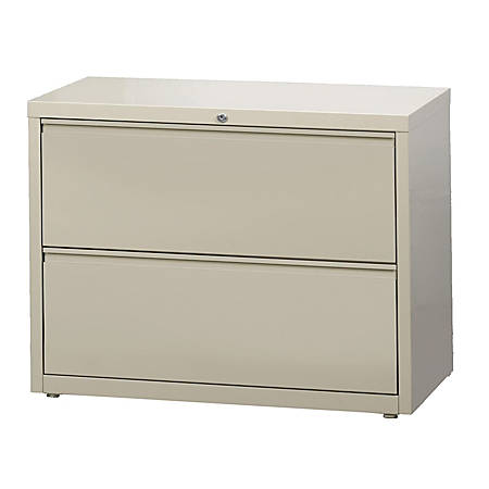 "WorkPro® 36""W 2-Drawer Letter-/Legal-Size Metal Lateral File Cabinet, Putty"